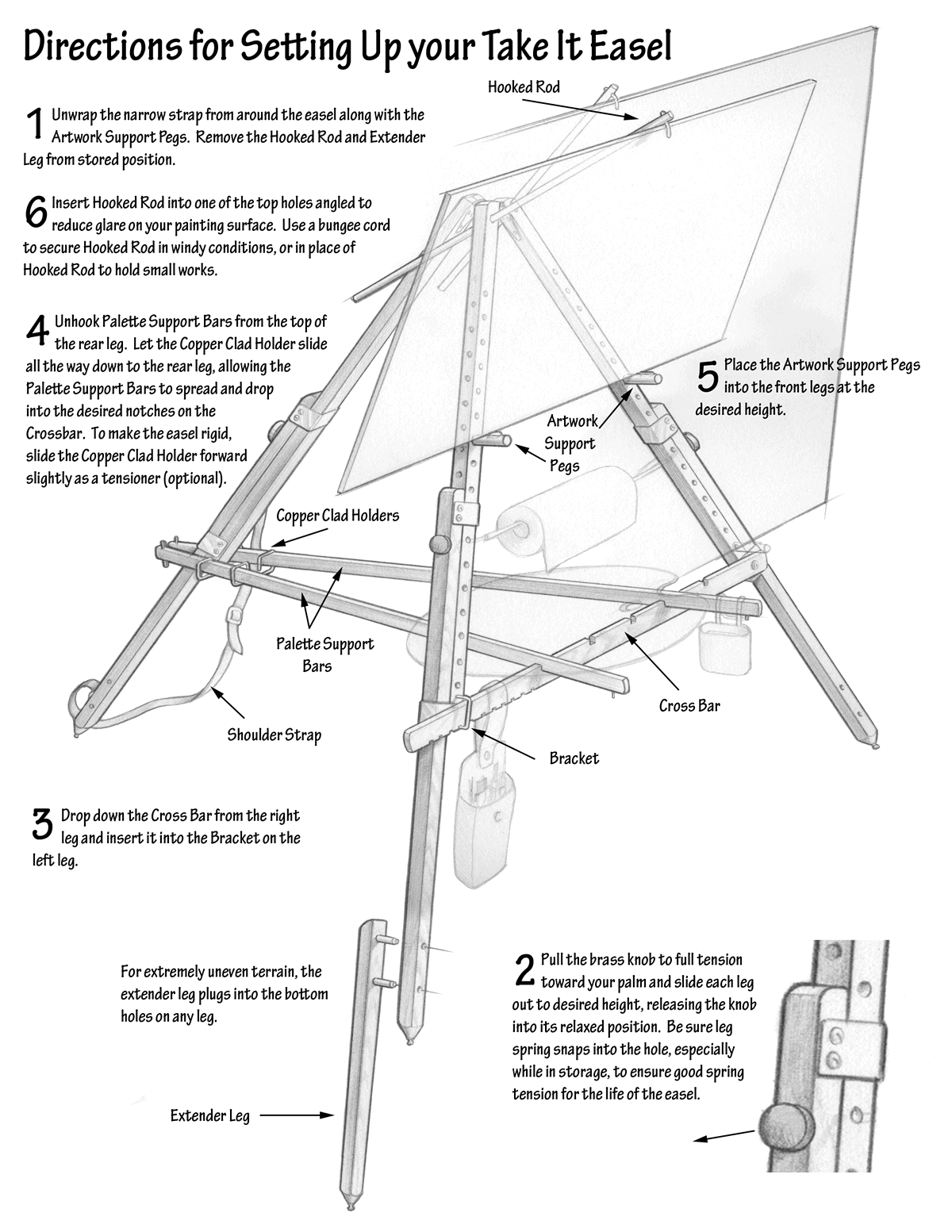 Take It Easel Setup Instructions